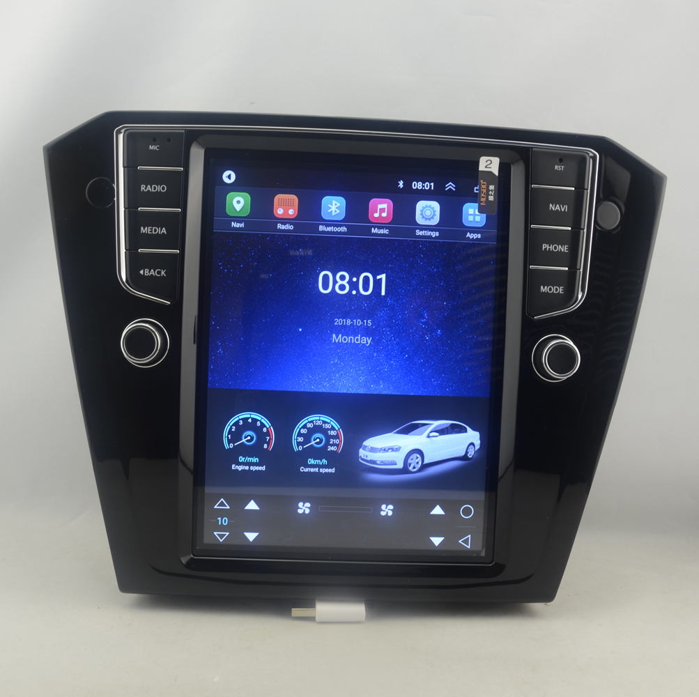 "10.4"" tesla style vertical screen Octa core Android 8.1 Car GPS radio Navigation for VW Volkswagen Passat 2016-2019"