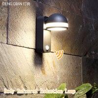 Novelty outdoor lighting Led Motion Sensor Light Wall lights Waterproof aluminum wall lamp corridor hallway entrance porch light
