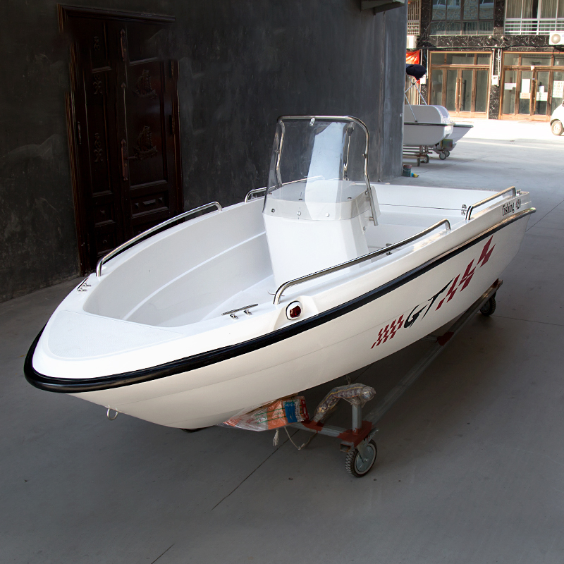 4.2m Double-layer FRP Fishing Boat Speedboat Speed Boat Ship Kayak Vessel Aluminum Yacht Sea Boat High Speed Boat