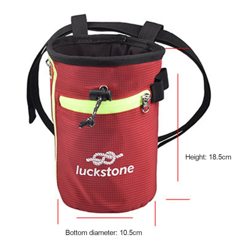 Rock Climbing Chalk Bag With Strip Powder Bag Chalk Bags For Rock Climbing