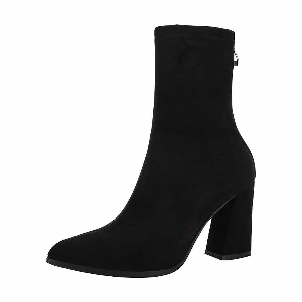 KANCOOLD 2019 nowe modne buty damskie z powrotem na zamek