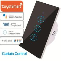New WiFi Electric Touch Blinds Curtain Control Switch Support Tuya APP Smart Home Automation Compatible With Alexa Google Home|Home Automation Modules|   -