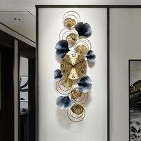 새로운 노르딕 럭셔리 벽시계 거실 홈 침실 음소거 시계 럭셔리 크리 에이 티브 아트 벽시계 장식 시계 DD6WC