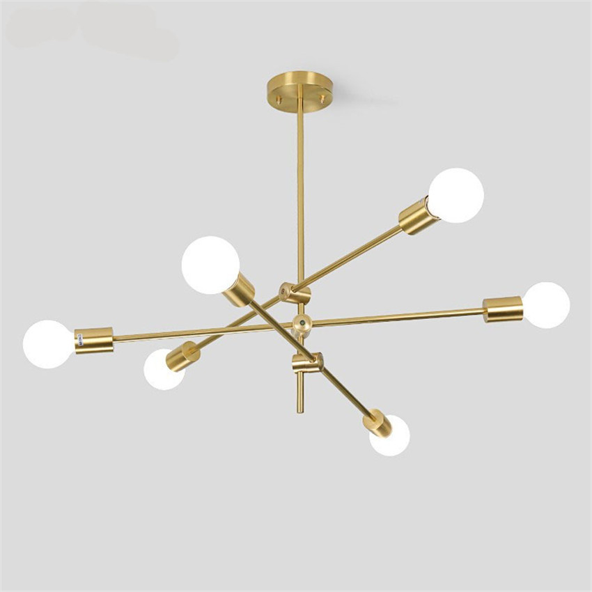Magic Bean Molecular Chandelier Lights Rotatable Adjustment Luxury Brass Color Living Room Dining Room Bedroom Ins Wind Lamps