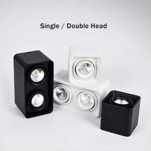 DBF – Spot lumineux carré pour le plafond, montage en Surface sans coupure, haute puissance, 10/12/20/24W, 3000/4000/6000K