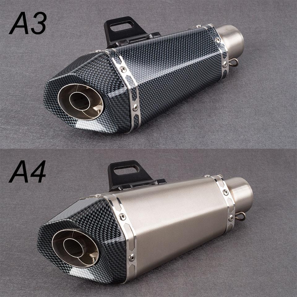 51mm Akrapovic Motorcycle Exhaust Pipe Muffler Small Hexagonal Exhaust Yoshimura For R6 FZ8 DUKE390 R25