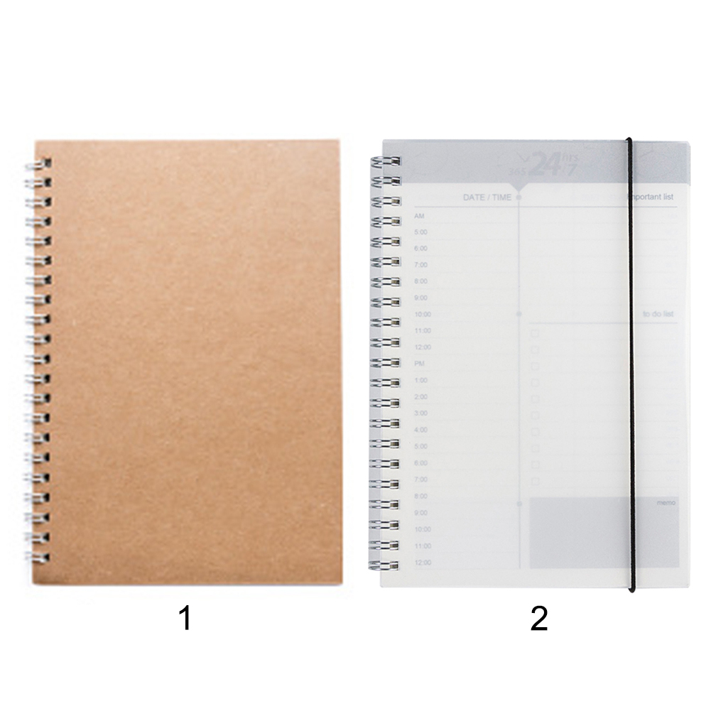 Daily Weekly Monthly Planner Spiral A5 Notebook Time Memo Important To-do List Organizer Agenda Office Schedule Stationary