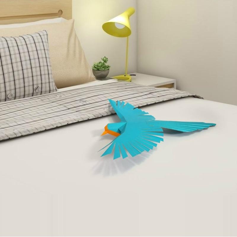 3d Bird Animal Living Room Book Shelf Home Decor Home Art Diy Hand Made Paper Craft Model Party Gift Card Model Building Sets Aliexpress