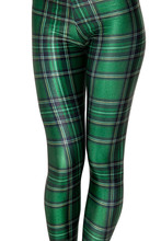 Plus Size 3XL 4XL High Waist Plaid Print Leggings Women Sexy Green Grid Workout Leggings Fitness Leggings Female Skinny Pants