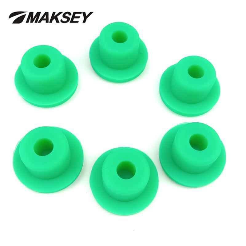 MAKSEY T tipo di tappo di Silicone Tappi di gomma verde blu rosso giallo colore bianco nero spina 23 millimetri 24 millimetri 25 26 millimetri estremità Maschio Cappellini bottiglia