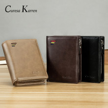 new Genuine men's high quality business fashion leather wallet multi-card multi-function coin purse credit card free shipping(China)