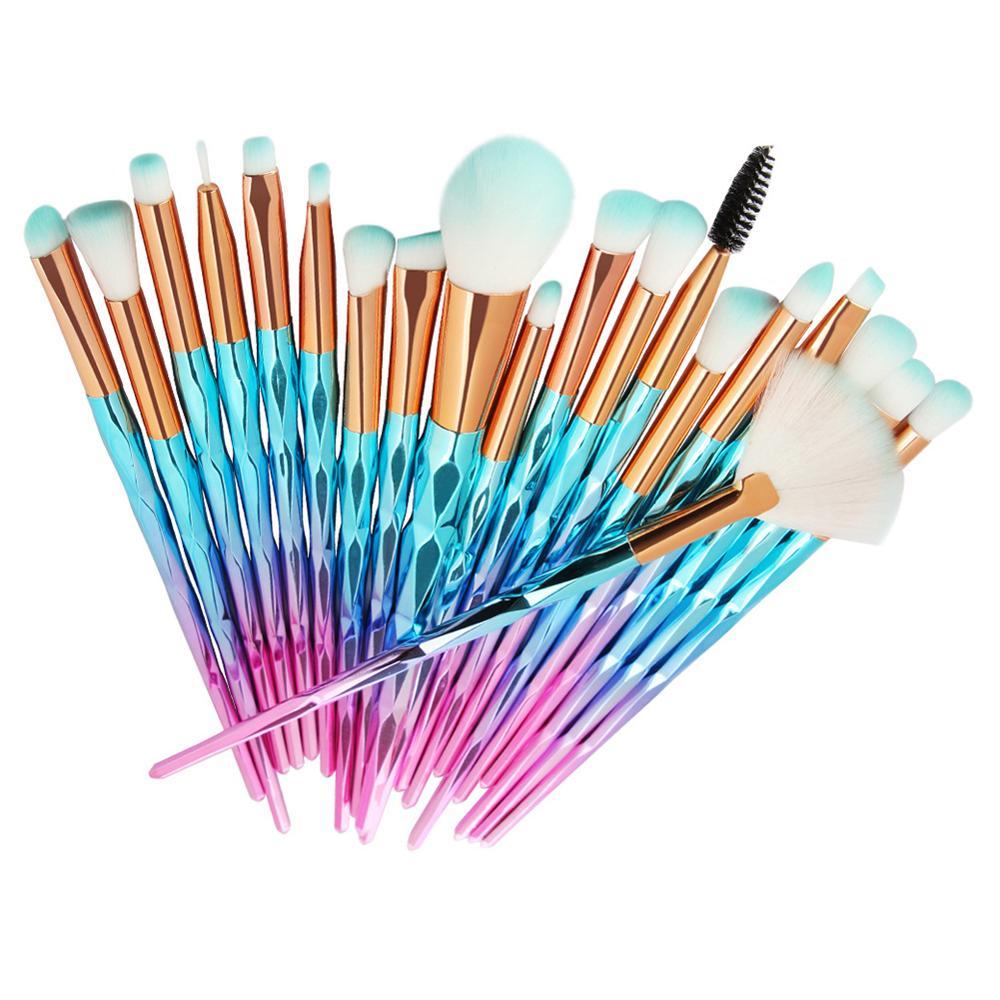 20pcs Diamond Makeup Brushes Set Beauty Make Up Brush Tool Cosmetic Powder Foundation Eye Shadow Beauty Tool