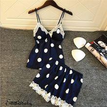 Sleep Lounge Pajama Set Sexy Satin Sleepwear Women Summer Py