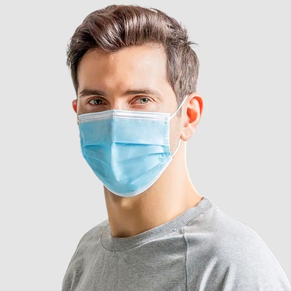 Anti-Pollution 3-Layer Dust Disposable Mask Elastic Ear Loop Safety Fast Delivery