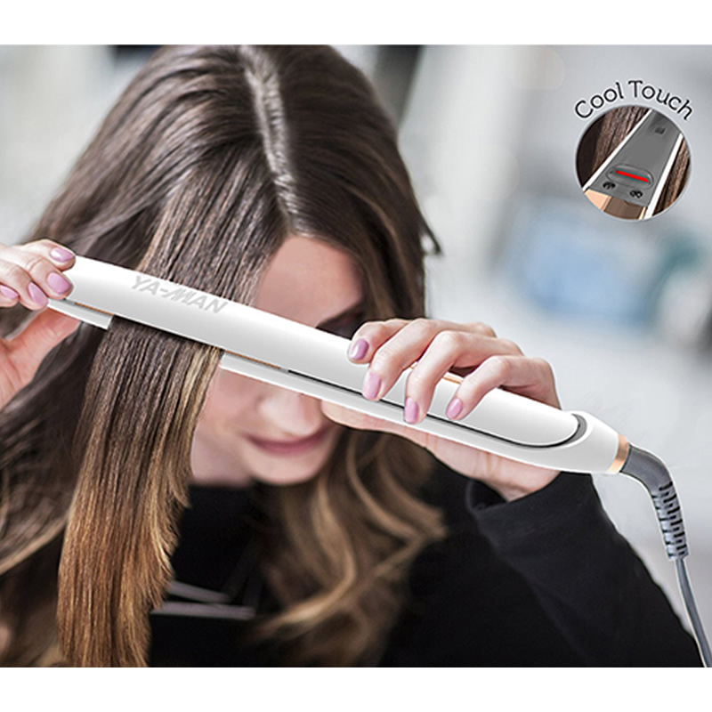 Professional Hair Straightener Curler Flat Iron Negative Ion Infrared  Wand Straighting Ionic Curling Iron Corrugation Crimper