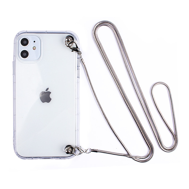 Collier en métal de luxe bandoulière placage lanière sangle téléphone souple étui pour samsung Galaxy A5 A6 A7 A8 PLUS 2018 J8 J6 J7 J2 Prime