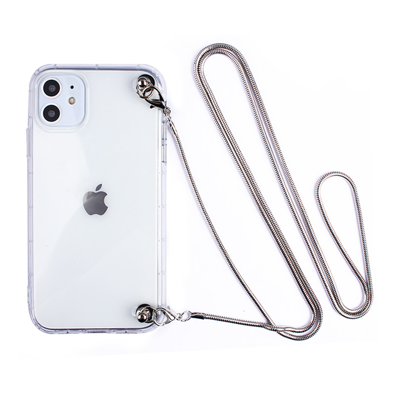 Luxury Metal Necklace Crossbody Plating Lanyard Strap Soft Phone <font><b>Case</b></font> For <font><b>Samsung</b></font> <font><b>Galaxy</b></font> <font><b>S11</b></font> S10 5G S9 S8 PLUS S7 S6 NOTE 10 9 8 image