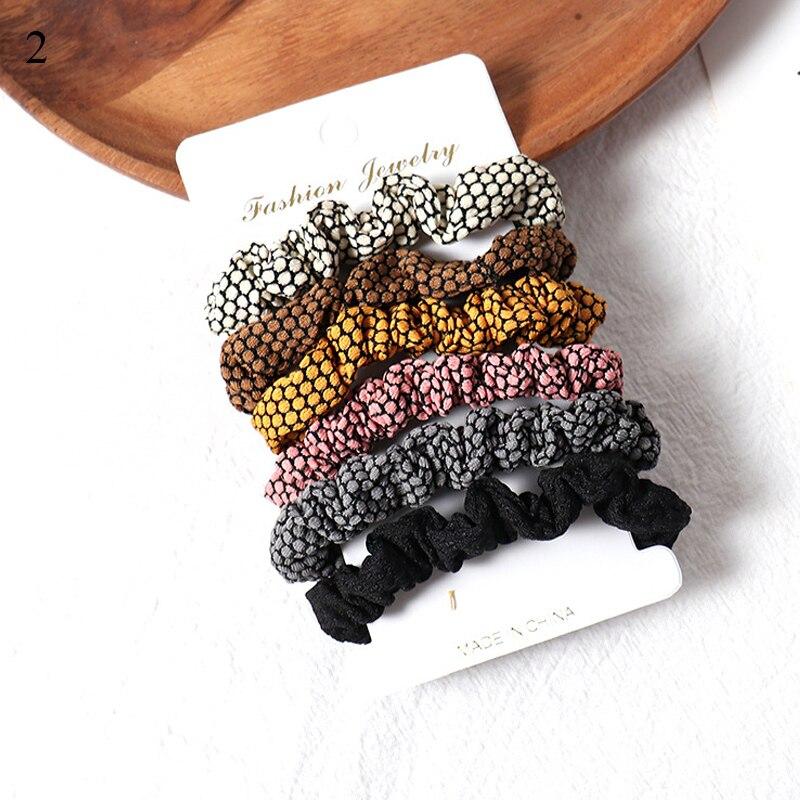 1 комплект резинки для волос кольцо для волос карамельного цвета Веревка для волос осень-зима женский хвостик аксессуары для волос 4-6 шт. ободки для девочек Подарки - Color: 2