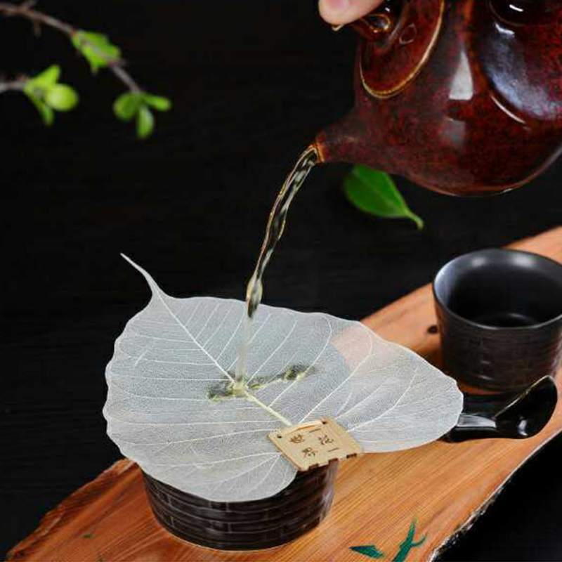 Tea Strainers Leaf Tea Filter Leaves Shape Bodhi Leakage Kung Fu Tea Infusers Access Hollow Bodhi Leaves Personality Filter 3