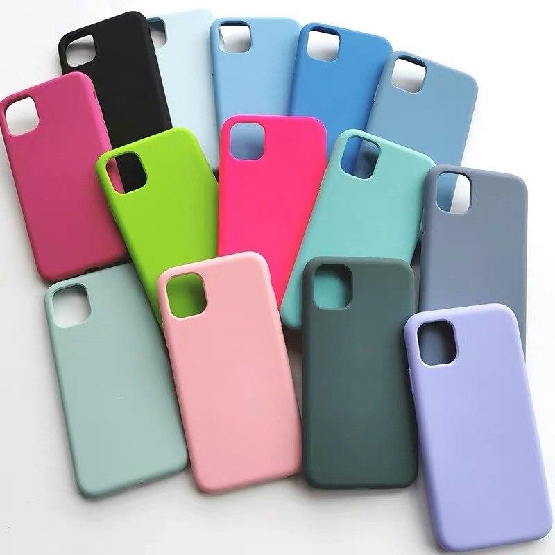 Оригинальный чехол из жидкого силикона для iPhone 12 Pro XS Max SE 2020 XR X 7 8 Plus, чехлы для телефонов iPhone 6 6S 12 11 Pro capa