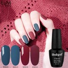 12 pcs ibdgel Gel Polish Set Autumn Meet UV Vernis Morandi Series Semi Permanent Soak Off UV Gel Varnish DIY Nail
