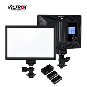цена на Viltrox L116T Portable LED Video Light Ultra-thin LCD Bi-Color Dimmable DSLR Studio mini Lamp Panel for YouTube show live Camera