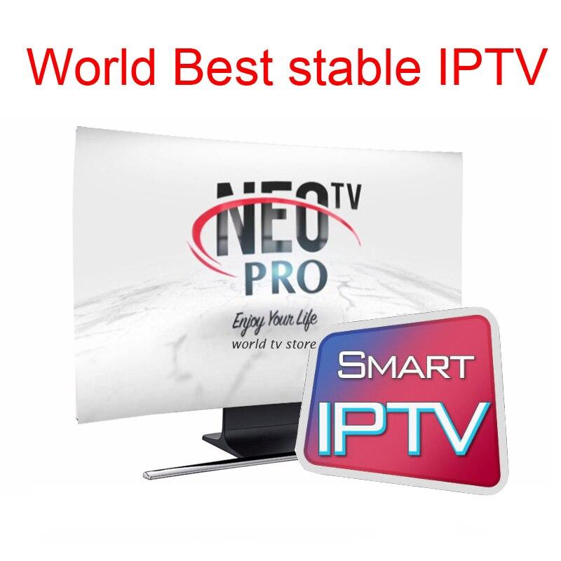 IPTV Subscription Neotv Pro Professional Italian Albania Poland Latino Russia Brazil Arabic French Iptv Code 7000 Channels