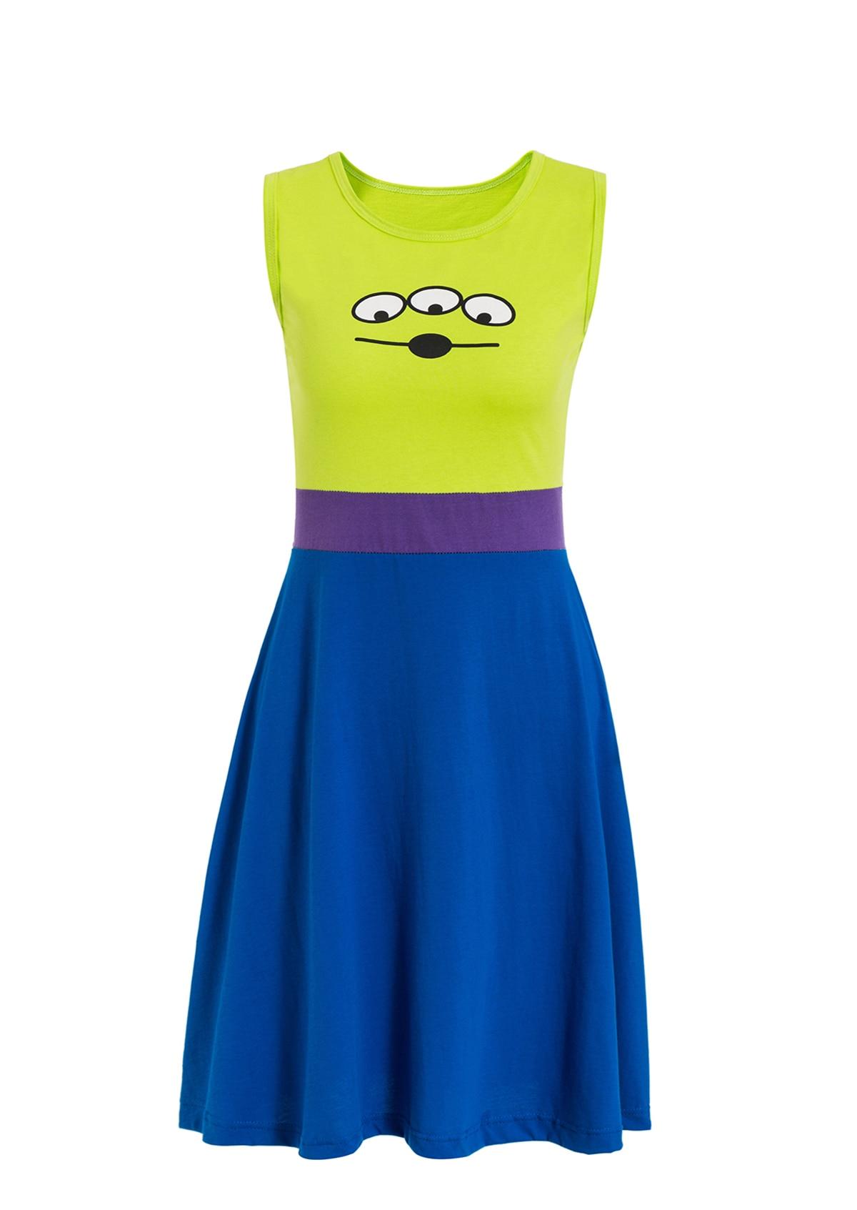 Платье принцессы для взрослых; одинаковый семейный маскарадный костюм «Минни Маус и я»; женское платье принцессы в горошек; большие размеры - Цвет: Alien