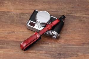 Image 4 - 소니/Leica/Olympus/Panasonic/Fuji 용 빈티지 정품 가죽 카메라 스트랩 그립 미러리스 디지털 카메라 끈 손목 스트랩