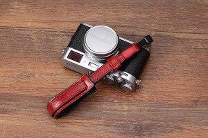 Image 4 - Vintage en cuir véritable caméra sangle poignée sans miroir caméra numérique lanière dragonne pour Sony/Leica/Olympus/Panasonic/Fuji