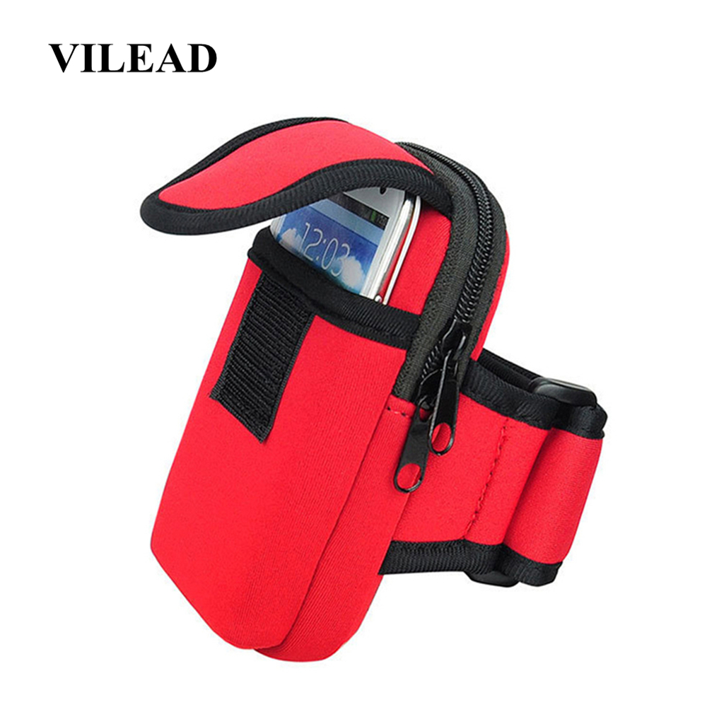 Vilead Neoprene Waterproof Running Bag Waterproof Outdoor Cellphone Holding Arm Bag Multi-functional Fitness Sports Sorting Bag
