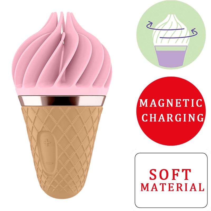Germany Satisfyer Sweet Treat Ice Cream Cone Sex Vibrator Toys For Woman Soft Silica Gel Clitoris Stimulator Mini Adult Toys