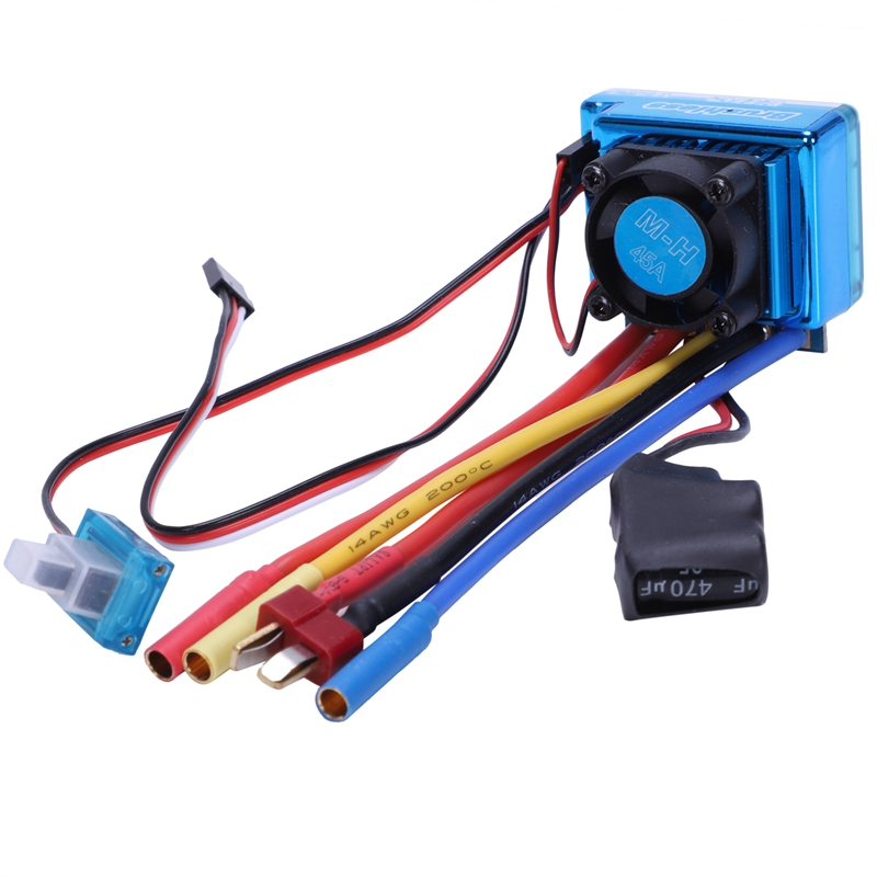 3650 4370KV 4P Brushless Motor and 45A Brushless Electric Speed Controller ESC for 1/10 RC Off Road Car|Replacement Parts & Accessories|   - title=