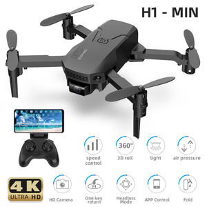 H1 Mini Remote control Aircraft 4K HD Camera Aerial Photography  RC Drone Professional Folding Quadrocopter Children's Toys Gift