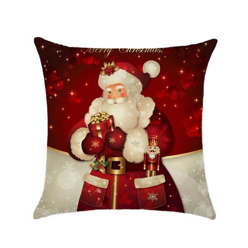 18 pollici 45 CENTIMETRI 1 PC Buon Natale Coperte e Plaid Copertura del Cuscino di Natale Babbo Natale Cuscino per il Sofà Divano Bacca Corona cassa del cuscino, - 6