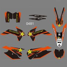 FOR KTM 125 150 200 250 300 350 450F SX XC 2013 2014 New Full Graphics Decals Stickers Custom Number Name Glossy Bright Stickers new style team graphics with matching backgrounds decals stickers for ktm exc 125 200 250 300 350 450 500 2012 2013 xc 2011