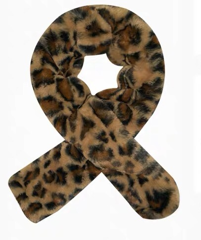 Leopard Print Scarf Cross Muffler Easy Matching Winter Female Neck Protection Sunday Angora Yarns Restore Ancient Ways Ins