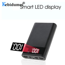Kebidumei caja de almacenamiento de carga de batería 4x18650, caja de almacenamiento de carga de batería, USB Dual tipo C, interfaz Micro USB Android para teléfonos inteligentes