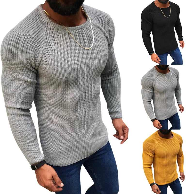 CYSINCOS  Autumn Cotton Sweater Pull Men Pullover Casual Jumper Male Brand Knitted Korean Style Clothes Plus Size Men Sweater