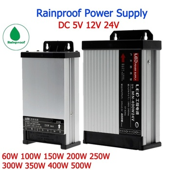 цена на 12V Power Supply Outdoor Rainproof Lighting Transformers 24v 5v power supply 60W 100W 150W 200W 250W 300W 400W 500W 600W