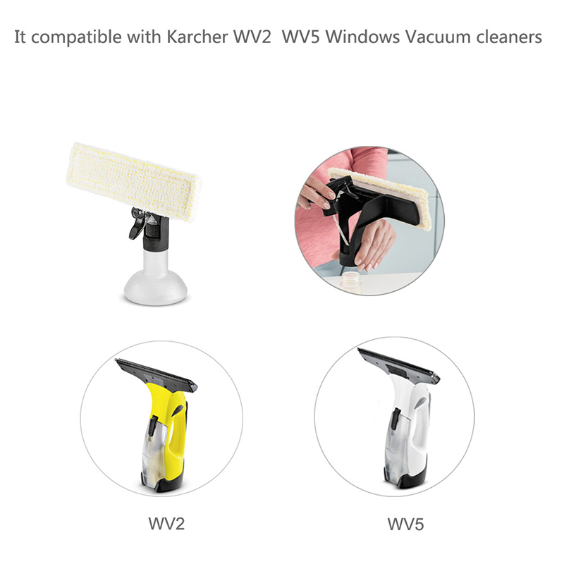 2PCS Microfibre Mop Cloth For Karcher WV2 5 Window Cleaning Machine 2.633-130.0