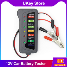 Mini 12V Car Battery Tester Auto Car Diagnostic Tool With 6 LED Lights Display Portable Digital Cars Vehicl Battery Testing Tool