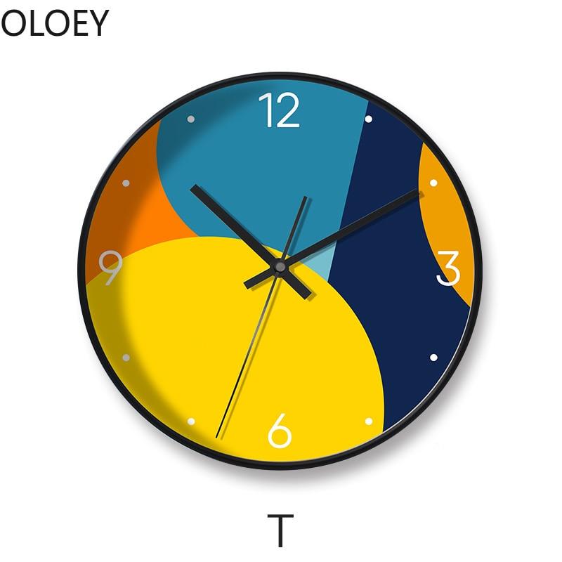 Nordic Large Wall Clock Metal Living Room Creative Clocks Wall Home Decor Modern Clock Mechanism Bedroom Silent Wall Watch