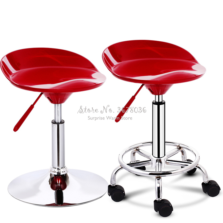 Quality ABS Bar Counter Chair Modern Bar Stools 360 Degree Rotation Lifting High Chair Bar Swivel Bar Stools Backrest Stool