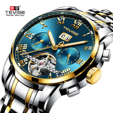 TEVISE Mechanical Sport Date Day Month Watch Mens Watches Top Brand Luxury Montre Homme Clock Men Automatic Skeleton Watch