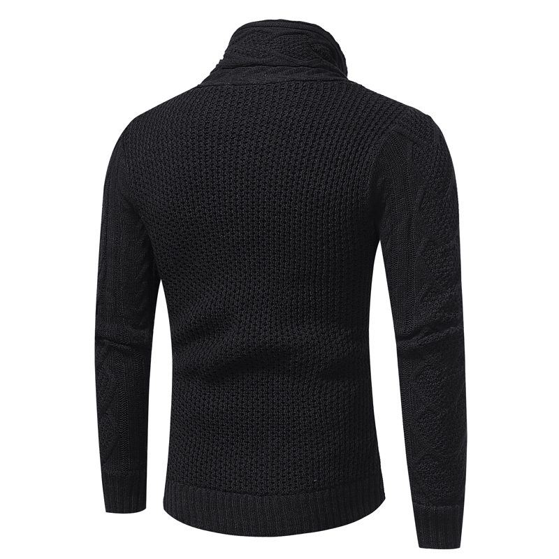 Men's Cardigan With Pockets Hooded Knitted Button Long Sleeve Coat
