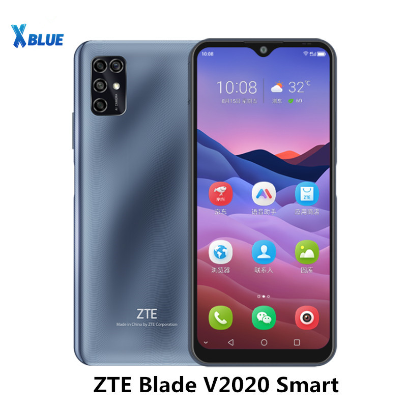 ZTE Blade V2020 Smart 6.82 pouces téléphones portables 5000mAh TFT 1640x720 4GB RAM 128GB ROM 16MP côté empreinte digitale visage ID OTG téléphone portable   AliExpress