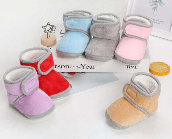 Baby Boots Solid Fur Newborn Pink Girls Infant Ankle Boots Prewalkers Crib Nonslip Baby Boys Camel Winter Shoe Warm SandQ Baby