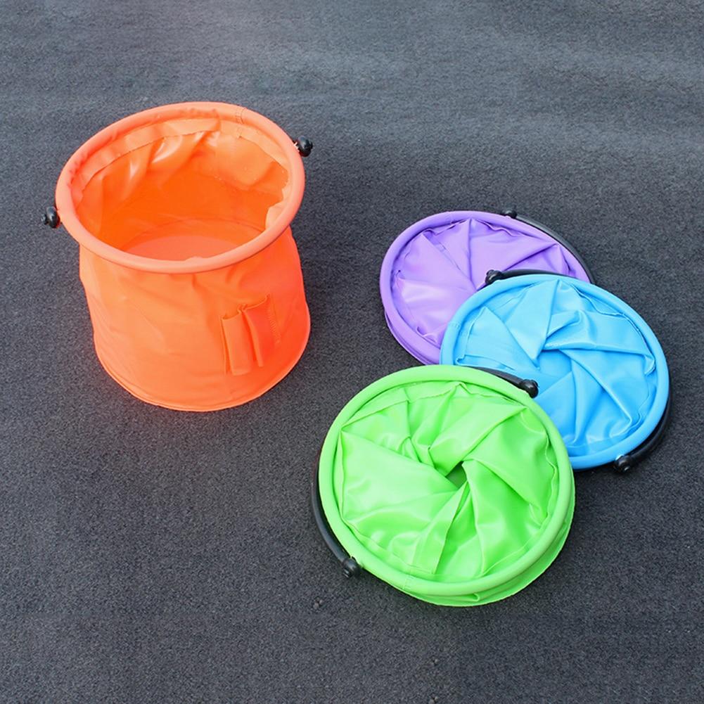 Plastic Folding Bucket Portable Collapsible Fishing Bucket For Washing Painting Brush
