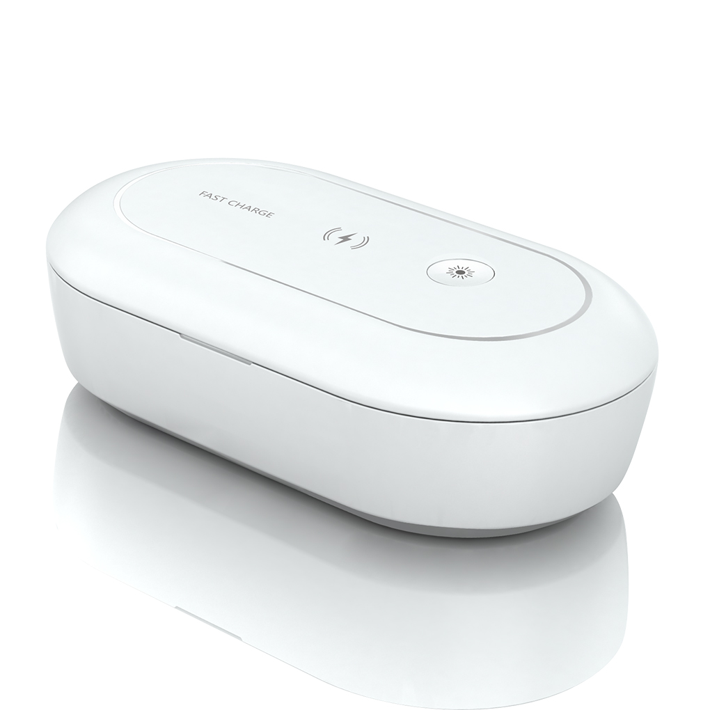UV Sterlizer Box Mobile Phone UV Light Sterlizer Cleaning Box Cellphone Wireless Charger Aroma Diffuser Portable UV Lamp Case